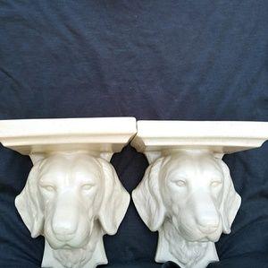 Other - Vintage Dog Ceramic Sconces